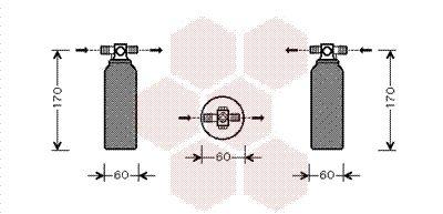 VAN WEZEL Droger, airconditioning (3200D155)