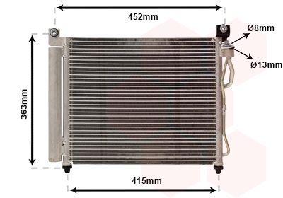 VAN WEZEL Condensor, airconditioning (83005065)
