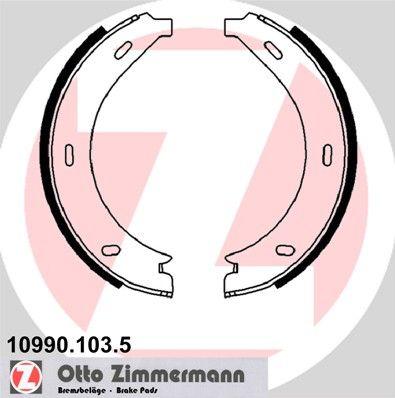 ZIMMERMANN Remschoenset, parkeerrem (10990.103.5)