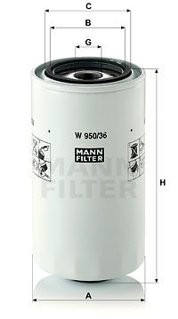MANN-FILTER Oliefilter (W 950/36)