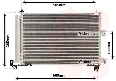 VAN WEZEL Condensor, airconditioning (18005486)