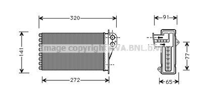 AVA QUALITY COOLING Kachelradiateur, interieurverwarming (PE6199)