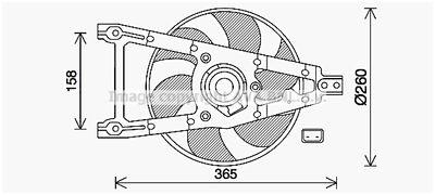 AVA QUALITY COOLING Koelventilatorwiel (FT7612)
