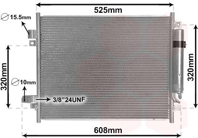 VAN WEZEL Condensor, airconditioning (33005428)