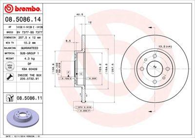 BREMBO Remschijf COATED DISC LINE (08.5086.11)