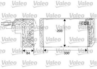 VALEO Verdamper, airconditioning (817467)