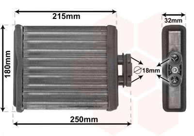 VAN WEZEL Kachelradiateur, interieurverwarming (58006196)