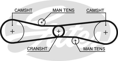 GATES Getande riem PowerGrip® (T275)