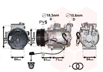 VAN WEZEL Compressor, airconditioning *** IR PLUS *** (2500K275)