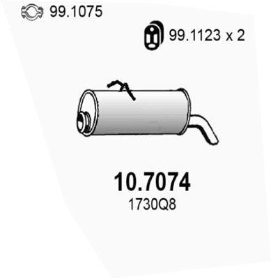 ASSO Einddemper (10.7074)