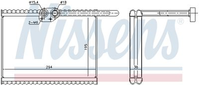 NISSENS Verdamper, airconditioning (92324)