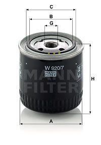 MANN-FILTER Hydraulische filter, automatische transmissie (W 920/7)