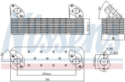 NISSENS Oliekoeler, motorolie (90728)