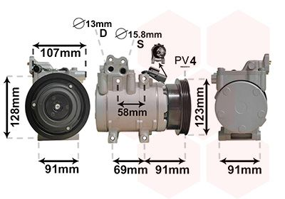 VAN WEZEL Compressor, airconditioning (8200K161)