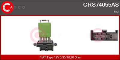 CASCO Weerstand, interieurventilator (CRS74055AS)