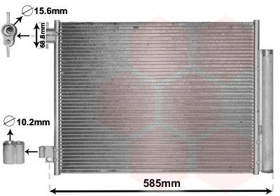VAN WEZEL Condensor, airconditioning (15005011)