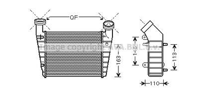 AVA QUALITY COOLING Intercooler, inlaatluchtkoeler (VNA4238)