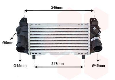 VAN WEZEL Intercooler, inlaatluchtkoeler (03004192)