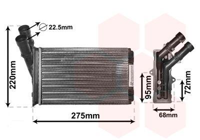 VAN WEZEL Kachelradiateur, interieurverwarming (09006055)