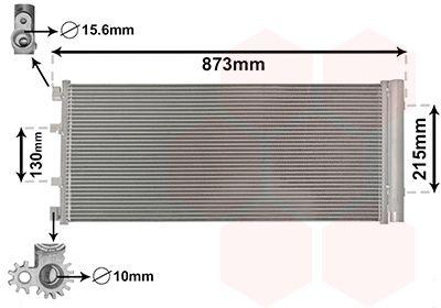 VAN WEZEL Condensor, airconditioning (43005475)