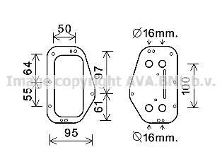 AVA QUALITY COOLING Oliekoeler, motorolie (OL3684)