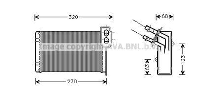 AVA QUALITY COOLING Kachelradiateur, interieurverwarming (RT6048)