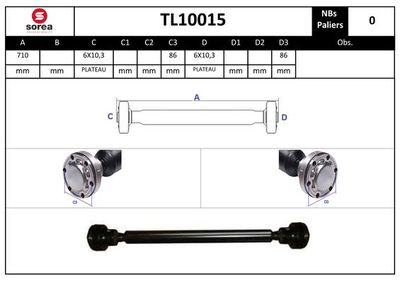 EAI Aandrijfas, asaandrijving (TL10015)