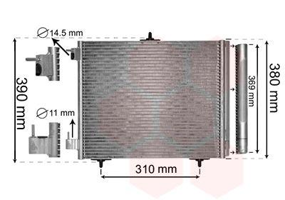 VAN WEZEL Condensor, airconditioning (40005295)