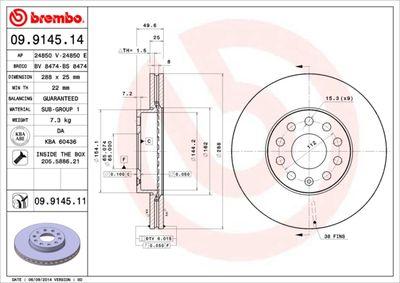 BREMBO Remschijf COATED DISC LINE (09.9145.11)