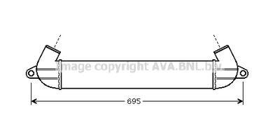 AVA QUALITY COOLING Intercooler, inlaatluchtkoeler (FT4271)