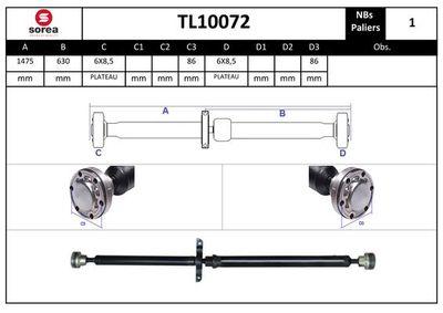 EAI Aandrijfas, asaandrijving (TL10072)