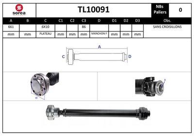 EAI Aandrijfas, asaandrijving (TL10091)