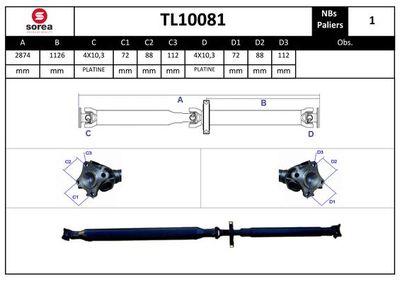 EAI Aandrijfas, asaandrijving (TL10081)