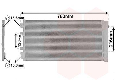 VAN WEZEL Condensor, airconditioning (43005483)