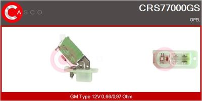 CASCO Weerstand, interieurventilator (CRS77000GS)