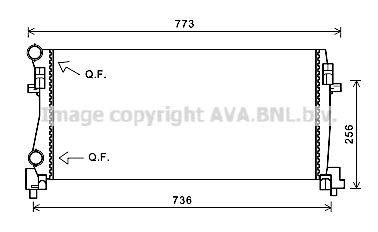 AVA QUALITY COOLING Radiateur (VNA2340)