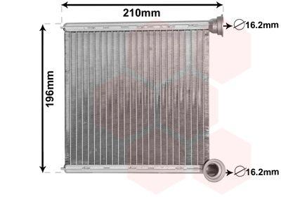 VAN WEZEL Kachelradiateur, interieurverwarming (03006385)