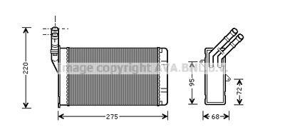AVA QUALITY COOLING Kachelradiateur, interieurverwarming (CN6055)