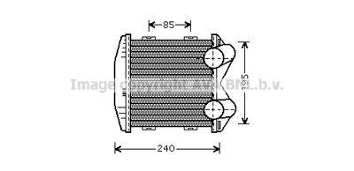 AVA QUALITY COOLING Intercooler, inlaatluchtkoeler (MCA4003)