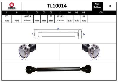 EAI Aandrijfas, asaandrijving (TL10014)