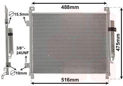 VAN WEZEL Condensor, airconditioning (33015701)