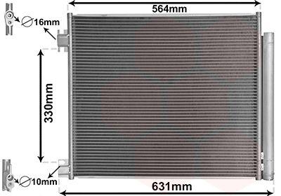 VAN WEZEL Condensor, airconditioning (33005422)