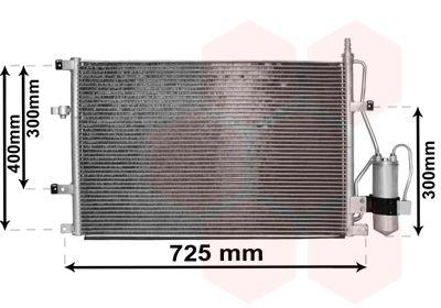 VAN WEZEL Condensor, airconditioning (59015107)
