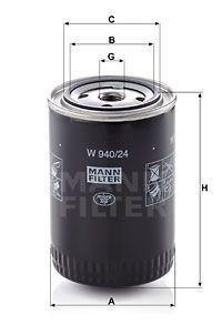 MANN-FILTER Hydraulische filter, automatische transmissie (W 940/24)