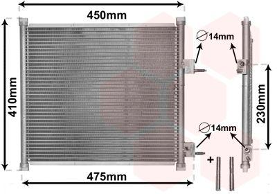 VAN WEZEL Condensor, airconditioning *** IR PLUS *** (18005262)