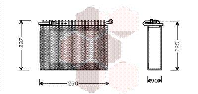 VAN WEZEL Verdamper, airconditioning (7300V006)