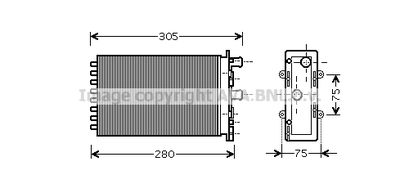 AVA QUALITY COOLING Kachelradiateur, interieurverwarming (VNA6239)