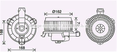 AVA QUALITY COOLING Elektrische motor, Interieurventilatie (TO8743)