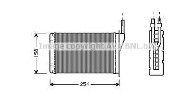 AVA QUALITY COOLING Kachelradiateur, interieurverwarming (RT6087)