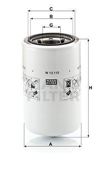 MANN-FILTER Oliefilter (W 13 110)